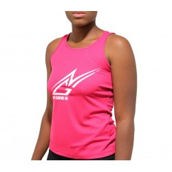 Debardeur sport rose logo blanc
