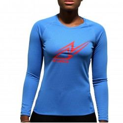 T-shirt sport NGI anti-transpirant bleu logo rouge