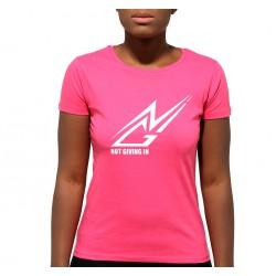 T-shirt coton NGI rose logo blanc