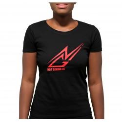 T-shirt coton NGI noir logo rouge