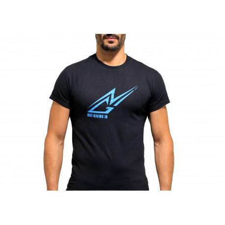 T-shirt coton NGI noir logo bleu