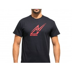 T-shirt sport NOT GIVING IN noir logo rouge